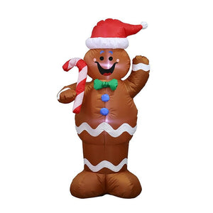 Christmas Inflatable Gingerbread Man Blow Up Yard Decoration