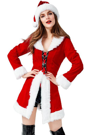Christmas Corset Coat Costume For Women