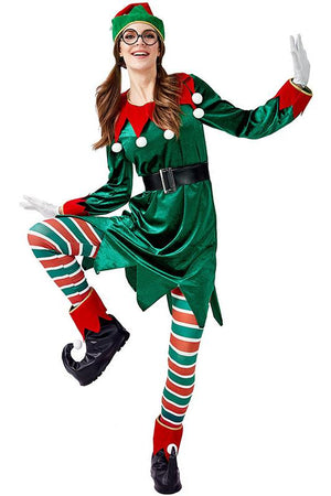 Christmas Elf Costume For Adult Women