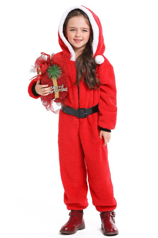 Christmas Onesie Costume For Kids-Red
