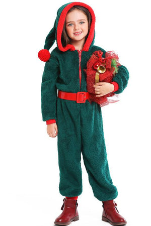 Christmas Onesie Costume For Adults- Green