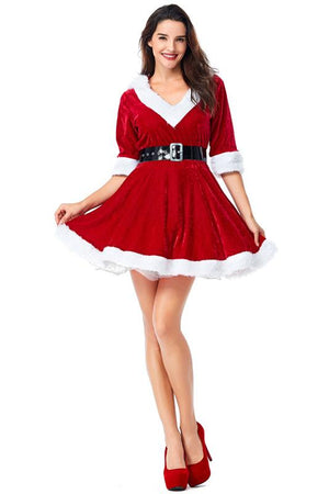 Christmas Red Dress Costume For Women