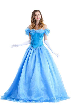 Cinderella Costume Women Fancy Dress For Adults