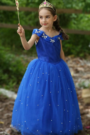 Cinderella Inspired Princess Dress For Kids Girls