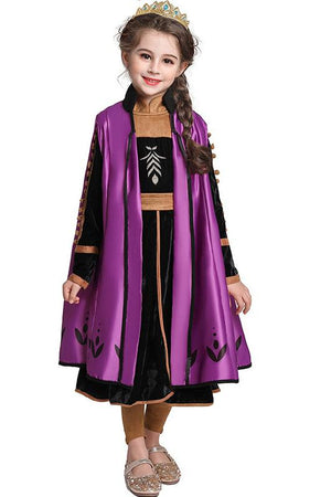 Frozen 2 Anna Dress Outfit Costume For Girls