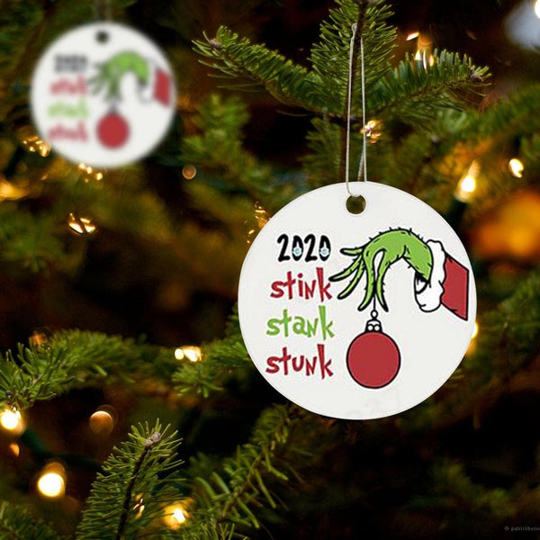 Grinch Christmas Tree Ornament 1 Pack (3 Pieces)