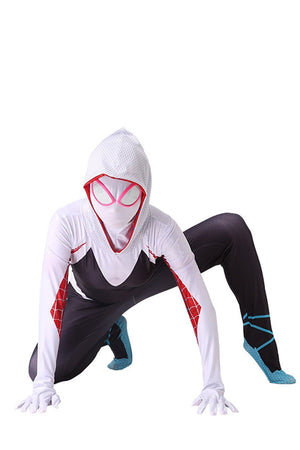Spider Woman Gwen Stacy Suit Costume for Girls and Women
