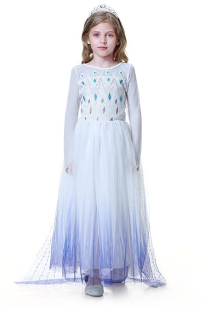 Frozen 2 Elsa Show Yourself White Dress Costume For Girls