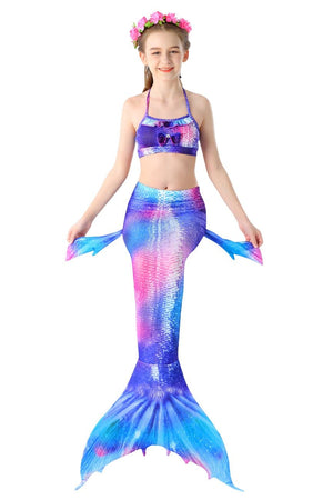 Mermaid Tail For Swimming Kids Swimsuit-Sunset
