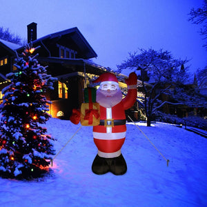 Christmas Inflatable Santa Claus LED Light Up Yard Decoration