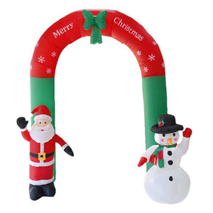 8' Inflatable Santa Snowman Gate Arch Decoration Lighted
