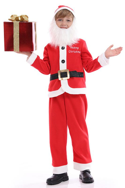 Boys Santa Claus Suit Costume
