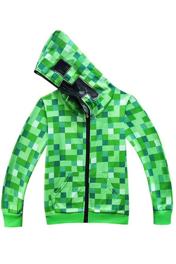 Minecraft Creeper Hoodie Costume For Teens and Kids