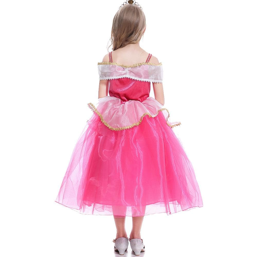 Sleeping Beauty Princess Aurora Dress Costume For Girls