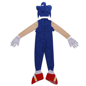 Sonic the Hedgehog Costume For Kids with Gloves