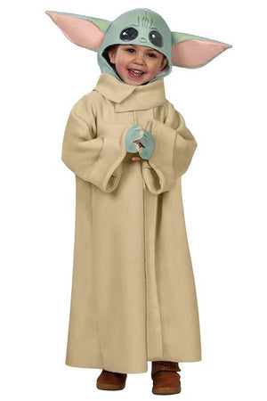 baby yoda robe outfit costume for kids halloween dress up