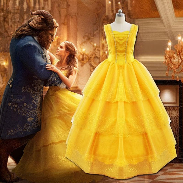 Beauty and Beast Belle Dress Costume For Adult Women