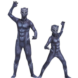 Black Panther Suit Costume for Boys and Adult Men