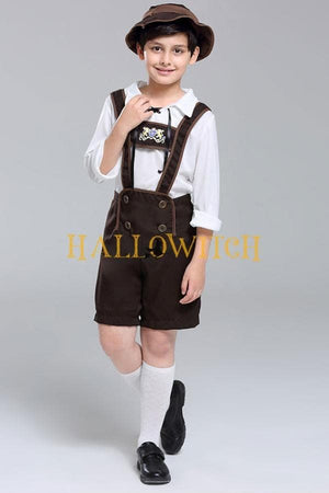 Boys German Beer Fest Oktoberfest Lederhosen Kostüm Traditional Bavarian Costume
