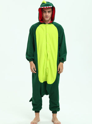 Green Dinosaur Onesie Costume For Adults and Teenagers
