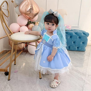 Frozen Elsa Dress Costume For Toddlers