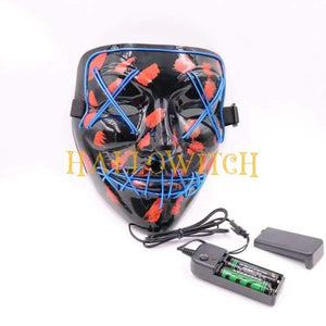 Glow Up Purge Led Mask Costume