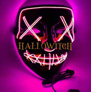 Glow Up Purge Led Mask Costume Pink