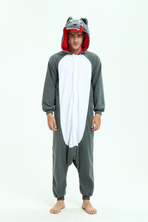 Grey Wolf Onesie For Adults and Teenagers