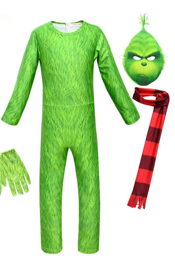 Grinch Costume for Toddler Kids