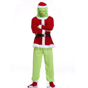 Christmas Grinch Santa Costume For Adult