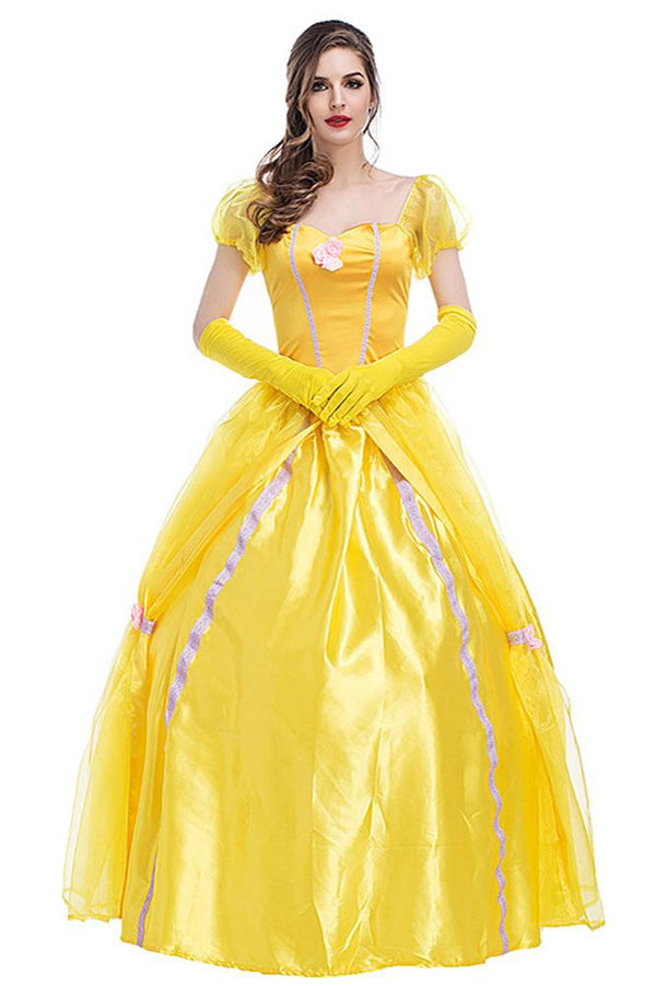Beauty and Beast Belle Princess Dress Costume For Adults