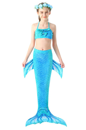 Mermaid Tail For Swimming Kids Swimsuit-Blue