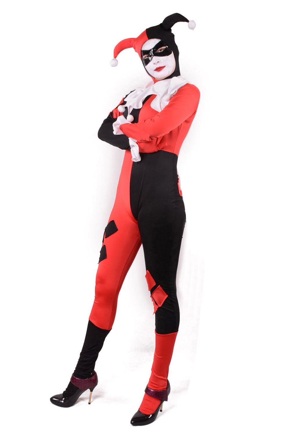 Harley Quinn Jester Outfit Costume