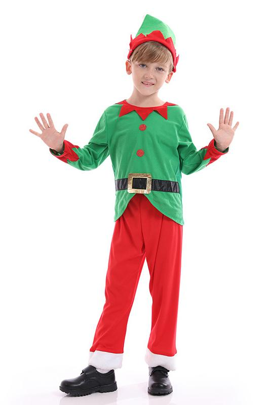 Boys Elf Outfit Costume