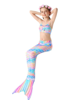 Mermaid Tail For Swimming Kids Swimsuit-Pink