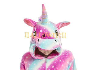 Rainbow Star Unicorn Onesie Costume For Adults And Teenagers Animal