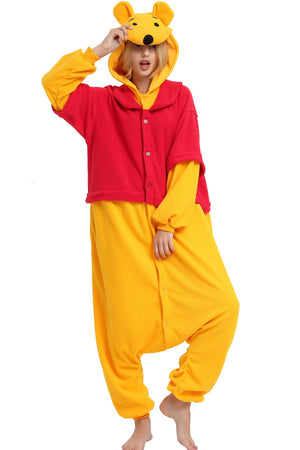 Disney Winnie The Pooh Bear Onesie Costume For Adults And Teenagers