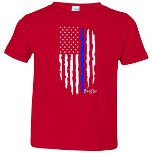 American Blue Line Flag Toddler Tee