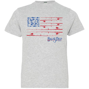 Fishing Rods Flag Youth Tee
