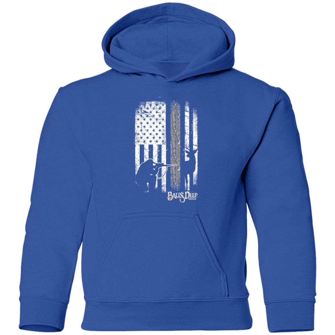 Deer Hunting Flag Youth Hoodie