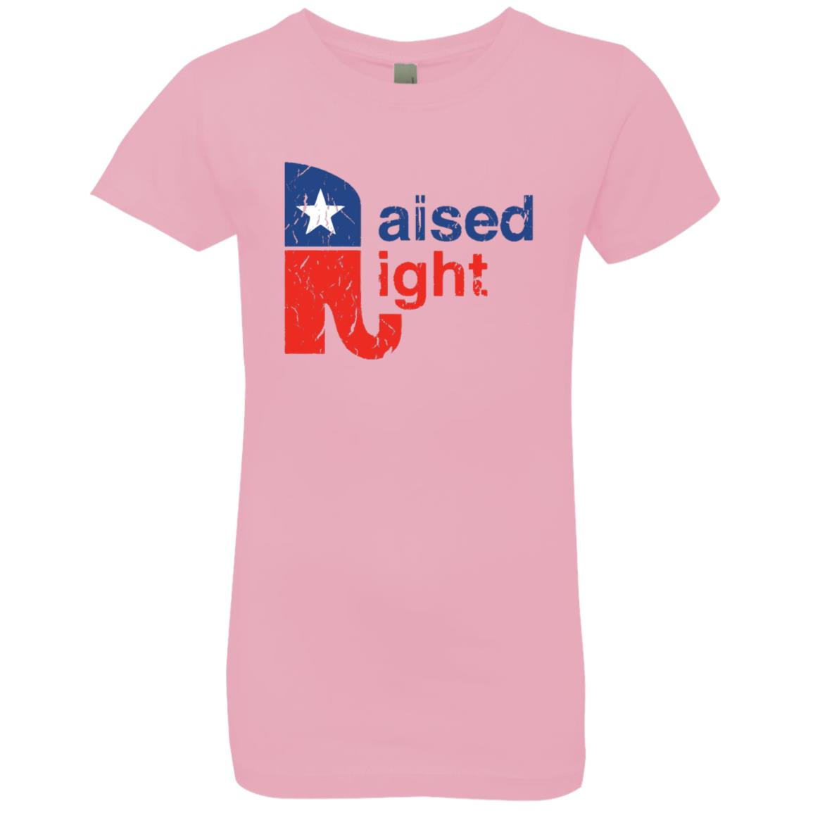 Raised Right Distressed Youth Girls Tee