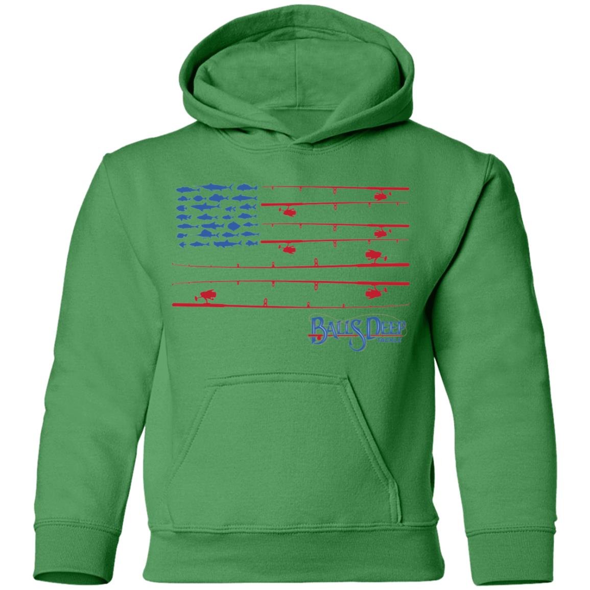 Fishing Rods Flag Youth Hoodie