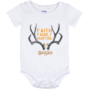Faith, Family, Hunting Rack Baby Onesie 12 Month