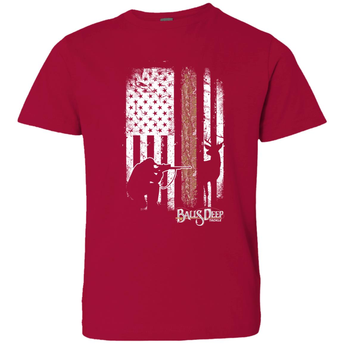Deer Hunting Flag Youth Tee