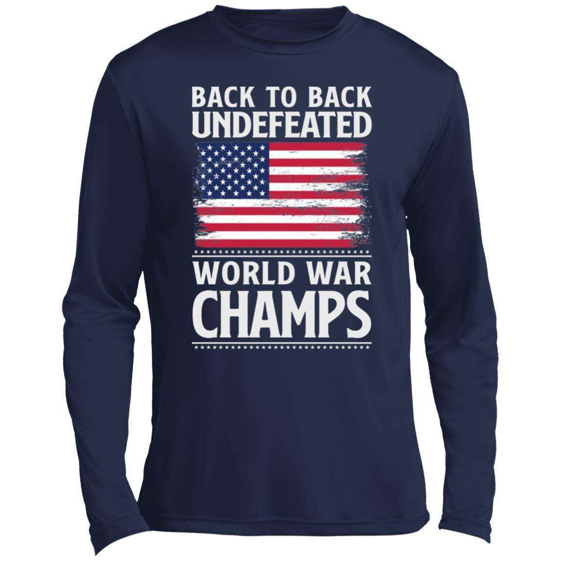 Back to Back Undefeated WW Champs Performance Long Sleeve