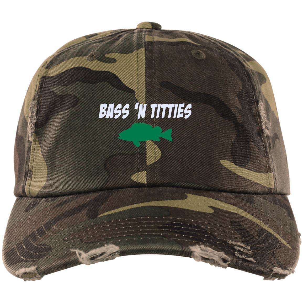 Bass N Titties Distressed Dad Cap