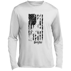 Battled Worn Flag and AR - Black Performance Long Sleeve