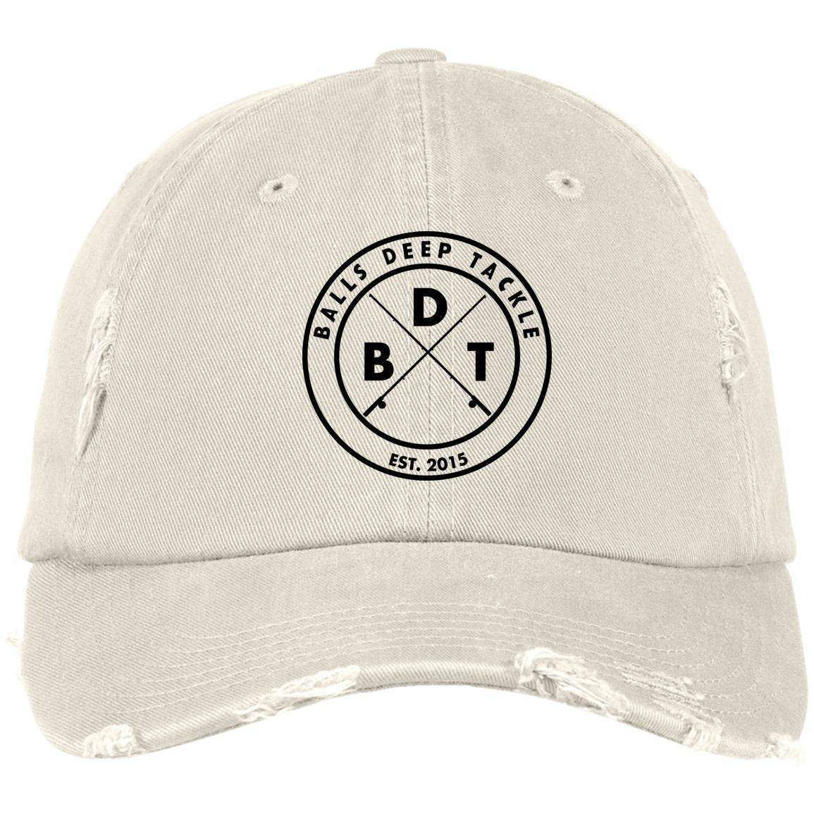 BDT Shield Patch Distressed Dad Cap