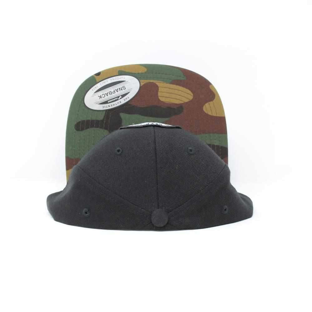 Camo Flatbill Shield Patch Hat