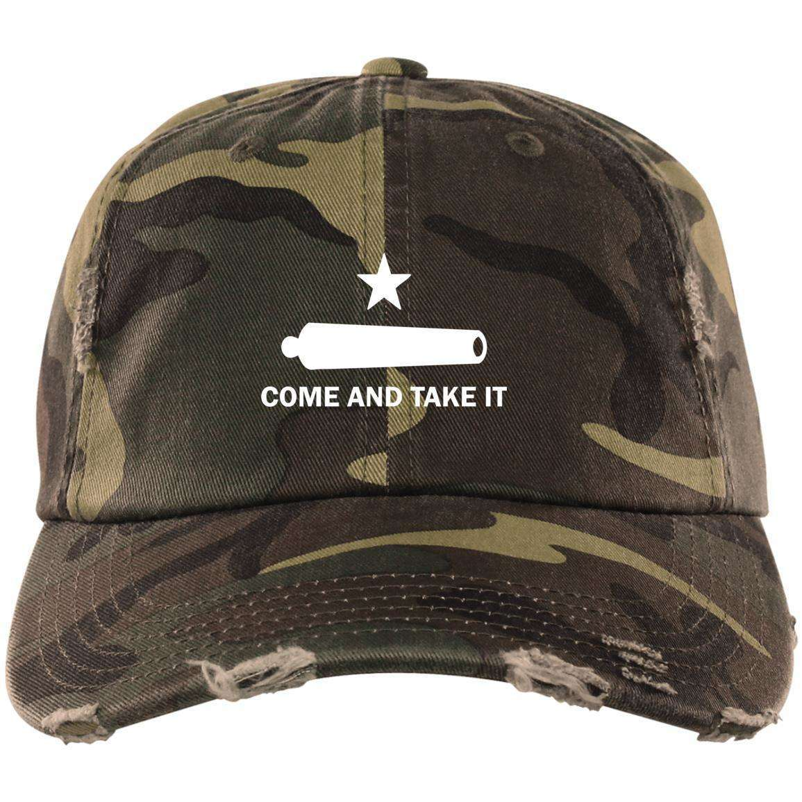 Come and Take It (White Logo) Distressed Dad Cap